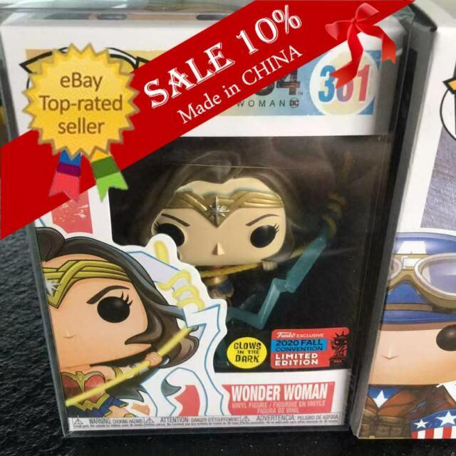 Funko Pop! Heroes WW84 Wonder Woman #361 2020 Exclusive W/Protector Garage Kit