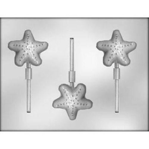 Starfish  Sucker Lollipop Chocolate Mold  Luau Party Ocean Sea Mermaid