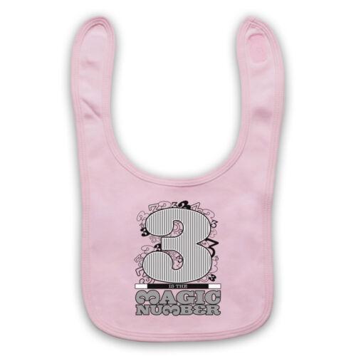3 IS THE MAGIC NUMBER DE LA SOUL UNOFFICIAL HIP HOP BABY BIB CUTE BABY GIFT