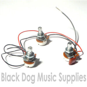 guitar pot potentiometer wiring kit 2 volume 1 tone ebay. Black Bedroom Furniture Sets. Home Design Ideas