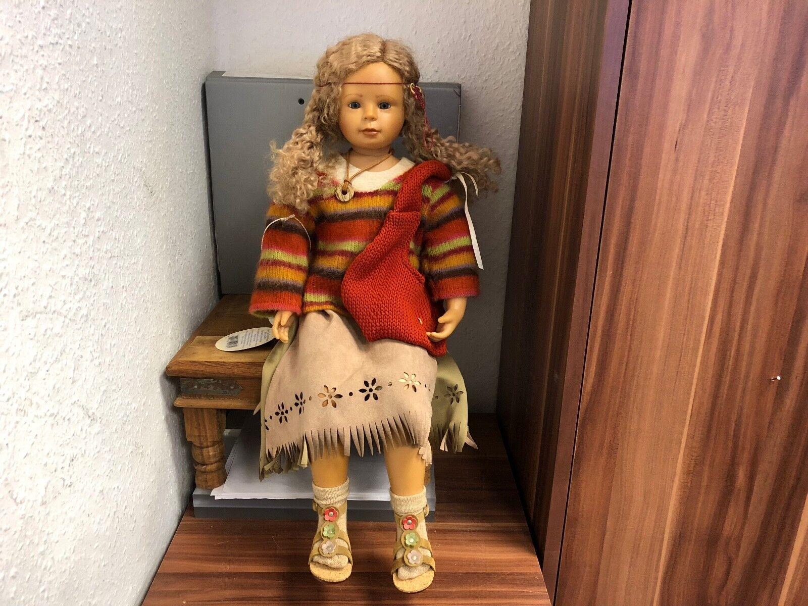 Bettina Feigenspan Hirsch Vinyl Puppe 58 cm. Top Zustand.