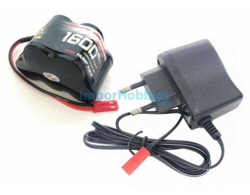 Combo cargador batería de receptor en pirámide 6.0V 1600Mah NiMh conector Bec