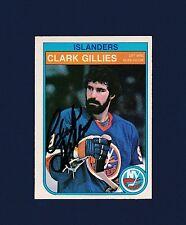 Clark Gillies signed New York Islanders 1982 Opee Chee hockey card