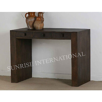 Contemporary Wooden Writing / Study / Desk / Laptop table (3 drawer)(SUN-DARK05)