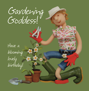 Image Is Loading Gardening Goddess Birthday Card One Lump Or Two