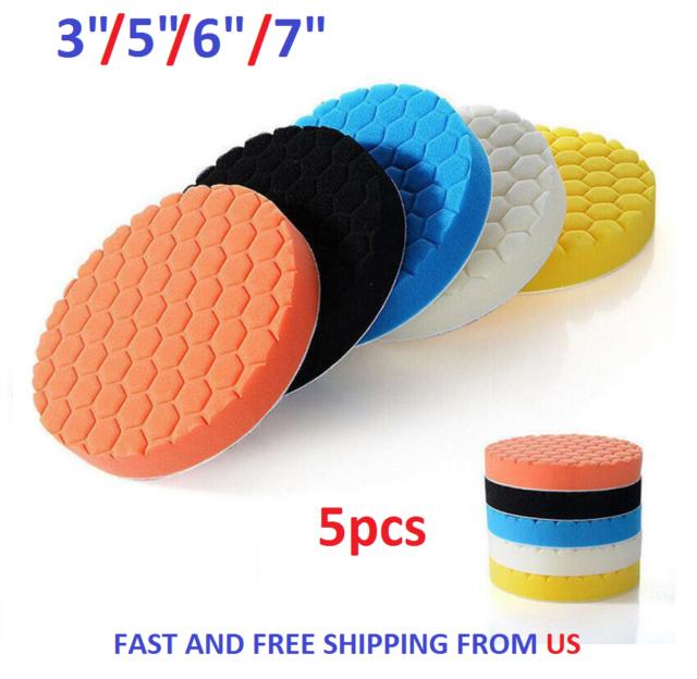 3pcs 6//7 Inch Buff Polishing Pad kit for Car Polisher 7 INCH