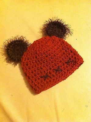 crochet baby ewok star wars yoda hat photo props costume fancy dress