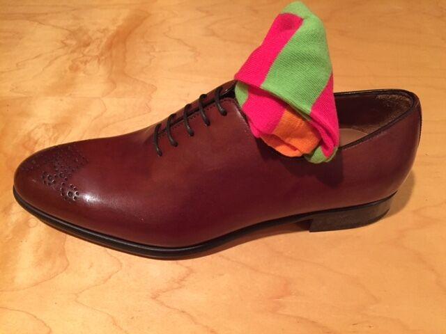 Brand new tan lace up oxford with perforated cap toe Scarpe classiche da uomo