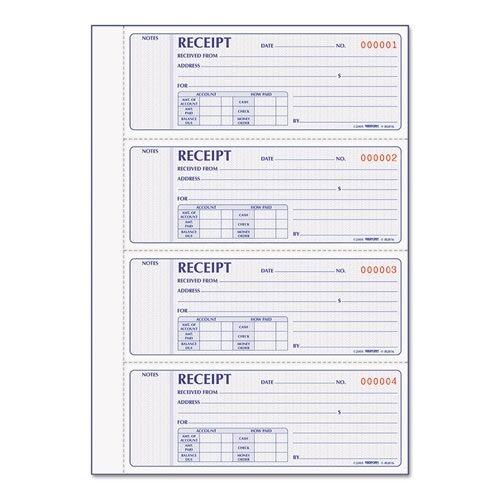 rediform red8l816 money receipt book carbonless 2 parts 3 x 7 inch