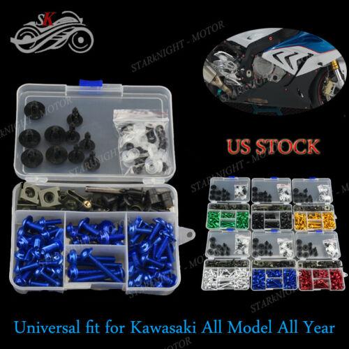 Motorcycle Fairing Bolt Screw Nuts Screws Kit For Kawasaki Ninja ZX10R 2004 2005