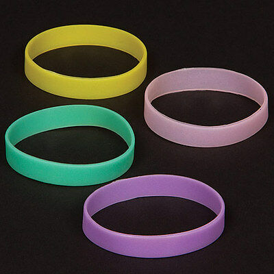 Glow in the Dark Wrist Bands, Kid's Halloween Party Bag Fillers (Pack of 10)