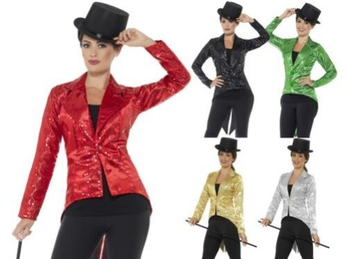 Strass Gilet Frac Giacca Donna Uomo Cabaret Costume Showtime Adulto