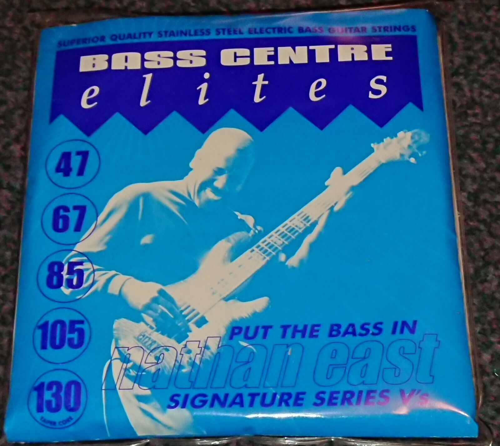 Elites NATHAN EAST Signature V's 47-130 Stainless Steal Bass Strings Long Scale