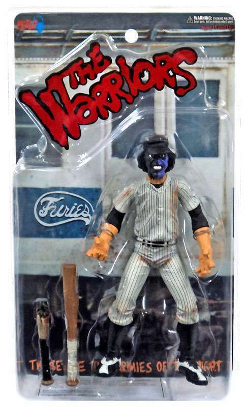 THE WARRIORS Mezco 2005 BASEBALL FURY lila Dirty Variant Figure  NIB, MINT