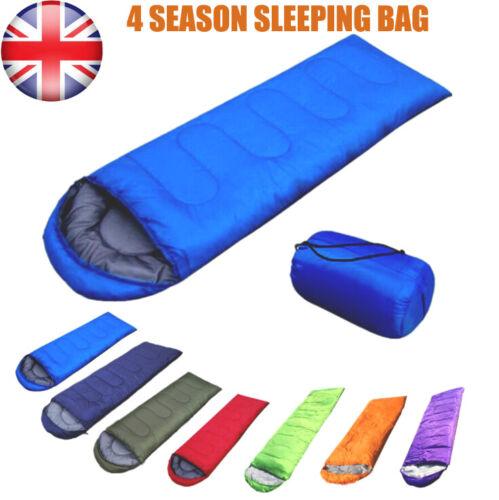 4 Season Sleeping Bag Waterproof Camping Hiking Travel Mummy Single Envelope Zip