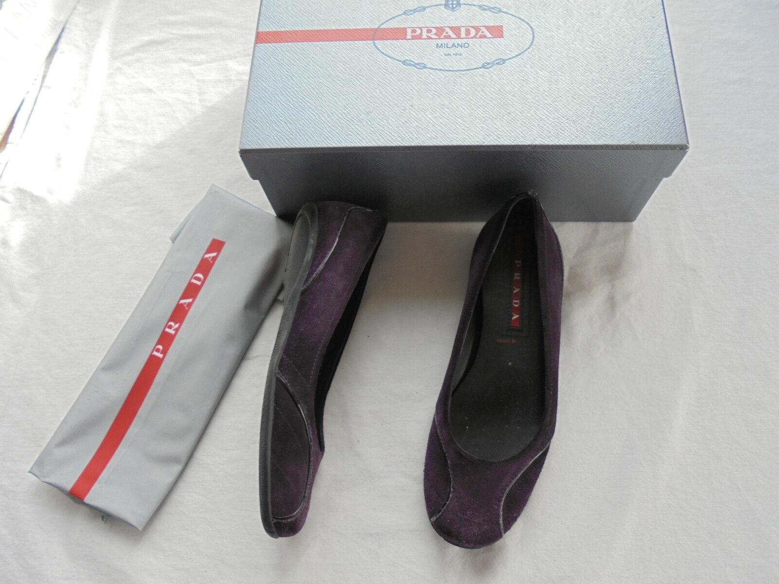 Prada TOP Wildleder Ballerinas NP:  TOP Prada Schuhe Slipper Tasche Pumps Gr. 36 01fc38