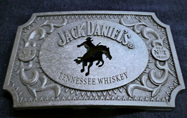 "Jack Daniels antique silver color Old No.7 Belt Buckle Western Cowboy 4 X 3/"""