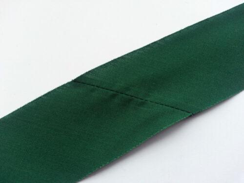 5 Metres Flat Cotton Green Bias Binding 40mm Trim Edging Quilting Same Day Post