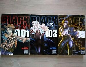Black-Lagoon-1-3-9-Lot-of-3-Seinen-Manga-English-Rei-Hiroe