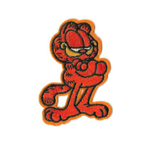 GARFIELD-Iron-on-Sew-on-Patch-Embroidered-Badge-Cartoon-TV-PT552