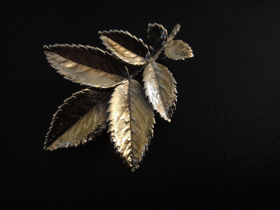 Broche, sølv, Forgyld sølv 925S ASKHIM