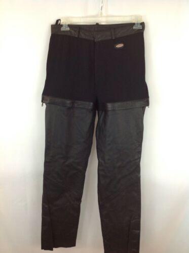 HARLEY-DAVIDSON-Women's Size 14 Black Leather Ridi