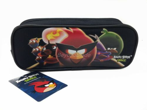 Angry Birds Black Pencil Pouch Zippered Pencil Case Authentic Bag