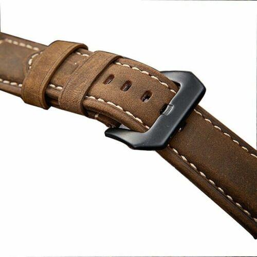 Herren Schnellverschluss Retro Leder Uhr Armband Elegant 20MM 24MM 26MM