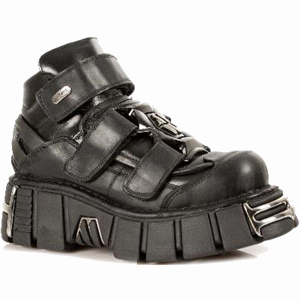 NEW Rock Newrock M.285-S1 Scarpe metallico nero pelle Gothic/Punk Unisex Scarpe M.285-S1 Stivali f5e22a