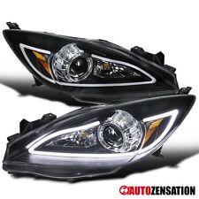 2010-2013 Mazda 3 Black Projector Headlights+LED DRL Light Bar