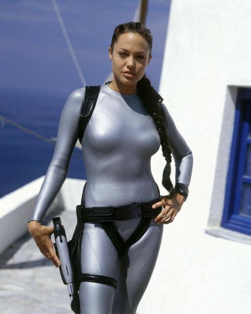 Angelina Jolie Signed 11x14 Photo Tomb Raider Beckett Bas