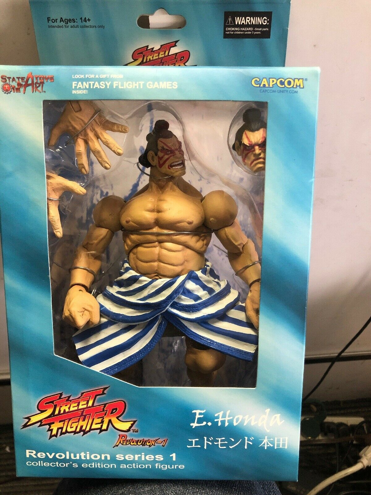 Street Fighter Revolución serie 1-E. Honda Figura De Acción-SOTA Juguetes 2008