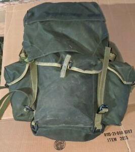 Canadian-Army-Surplus-Backpack-Rucksack-Type-82-pattern-Modified-no-metal-frame
