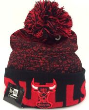 Chicago Bulls New Era NBA Fade Beanie Knit Pom Cuff Skully Toque Bobble Cap Hat