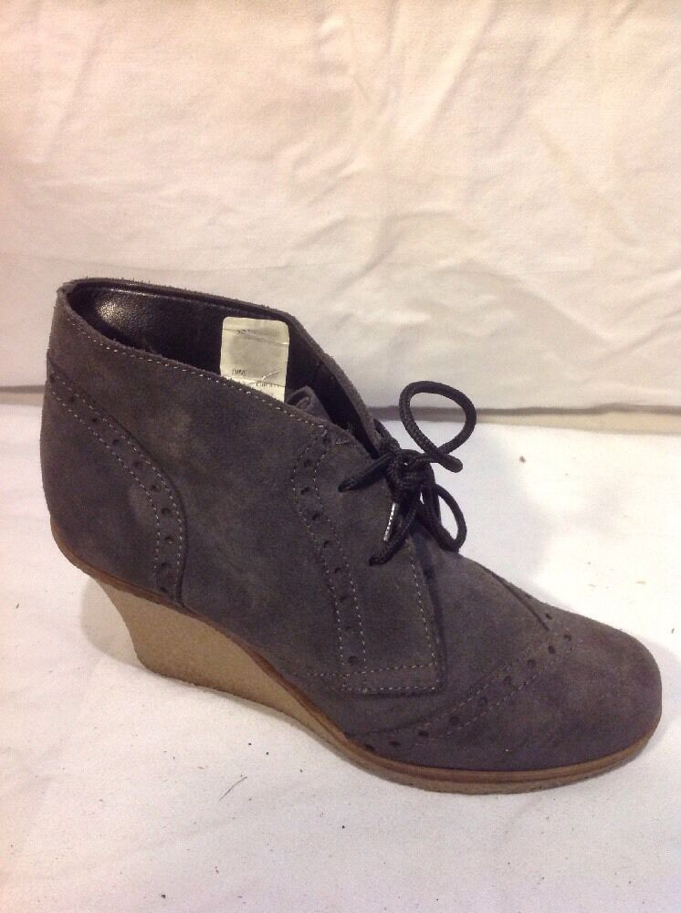 River Island Grey Ankle Suede Boots Size 37