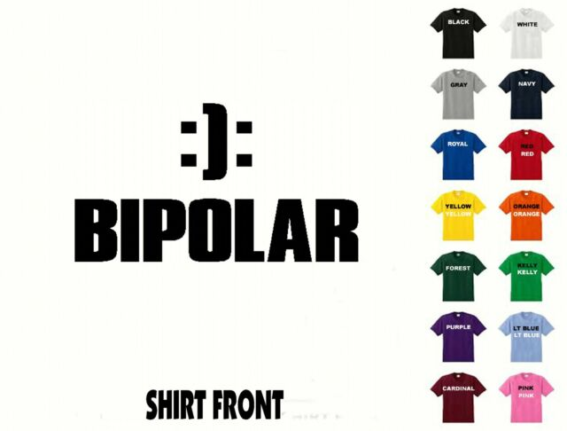 Bipolar Happy Sad Emotional Psychology Smile Frown Emoticon New Mens T-shirt