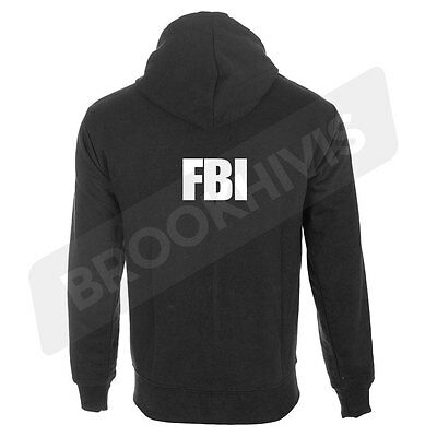 Fbi Hoodie Hoody Top Federal Bureau Of Investigation Work Wear Clothing Ruf Zuerst