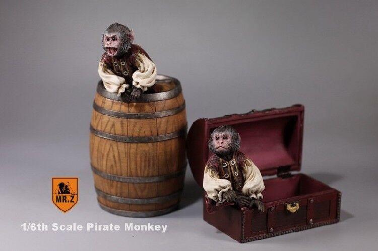 Mr.Z 1 6th Pirate Monkey Wine Barrel Treasure Box Fit 12  Figure Use
