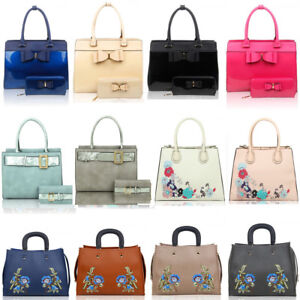 15d0166cfcfd LeahWard Women s Large Faux Leather Handbag For School College ...