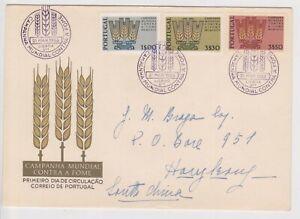 (K160-36) 1963 Portugal FDC AMPANHA MUNDIAL CONTRA envelope to HK china (AK)