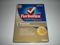 Turbotax 2012 Premier. Federal And State + Federal E-file. In Sealed Box.