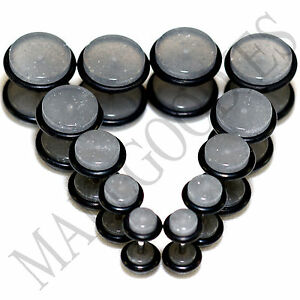 V113-Fake-Cheaters-Illusion-Faux-Ear-Plugs-4G-2G-0G-00G-7-16-034-1-2-034-Gray-Grey