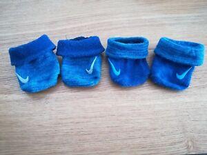 Baby Nike Swoosh Chaussettes Deux Couleurs Bleu 0-6 Mois Infantile-afficher Le Titre D'origine La RéPutation D'Abord