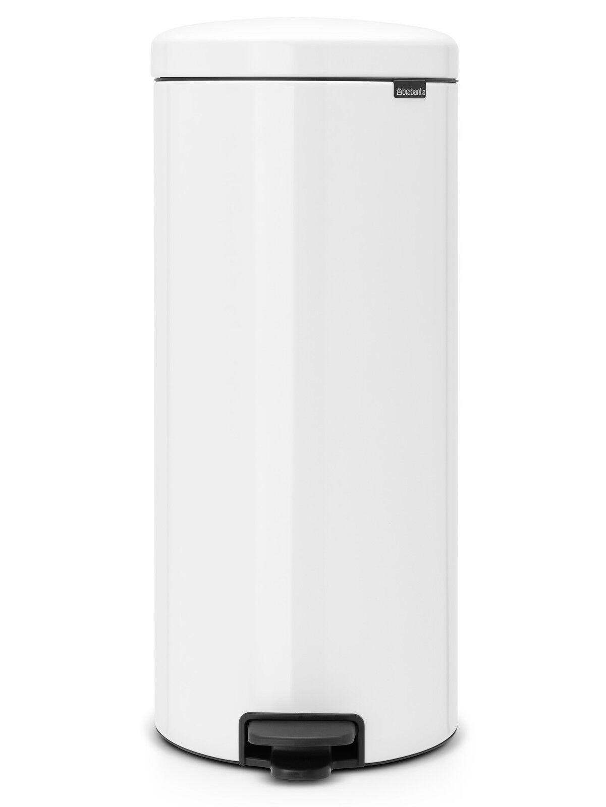 brabantia Treteimer NewIcon 20 L in Weiß nachhaltiger Mülleimer Soft Close