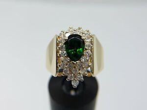 14k-Yellow-Gold-Green-Pear-Tourmaline-Diamond-Cocktail-Ring-1-50-CT