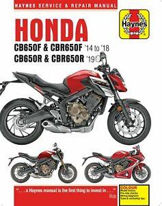 Honda CB650F CB650R CBR650F CBR650R 2014 - 2019 Haynes Manual 6461