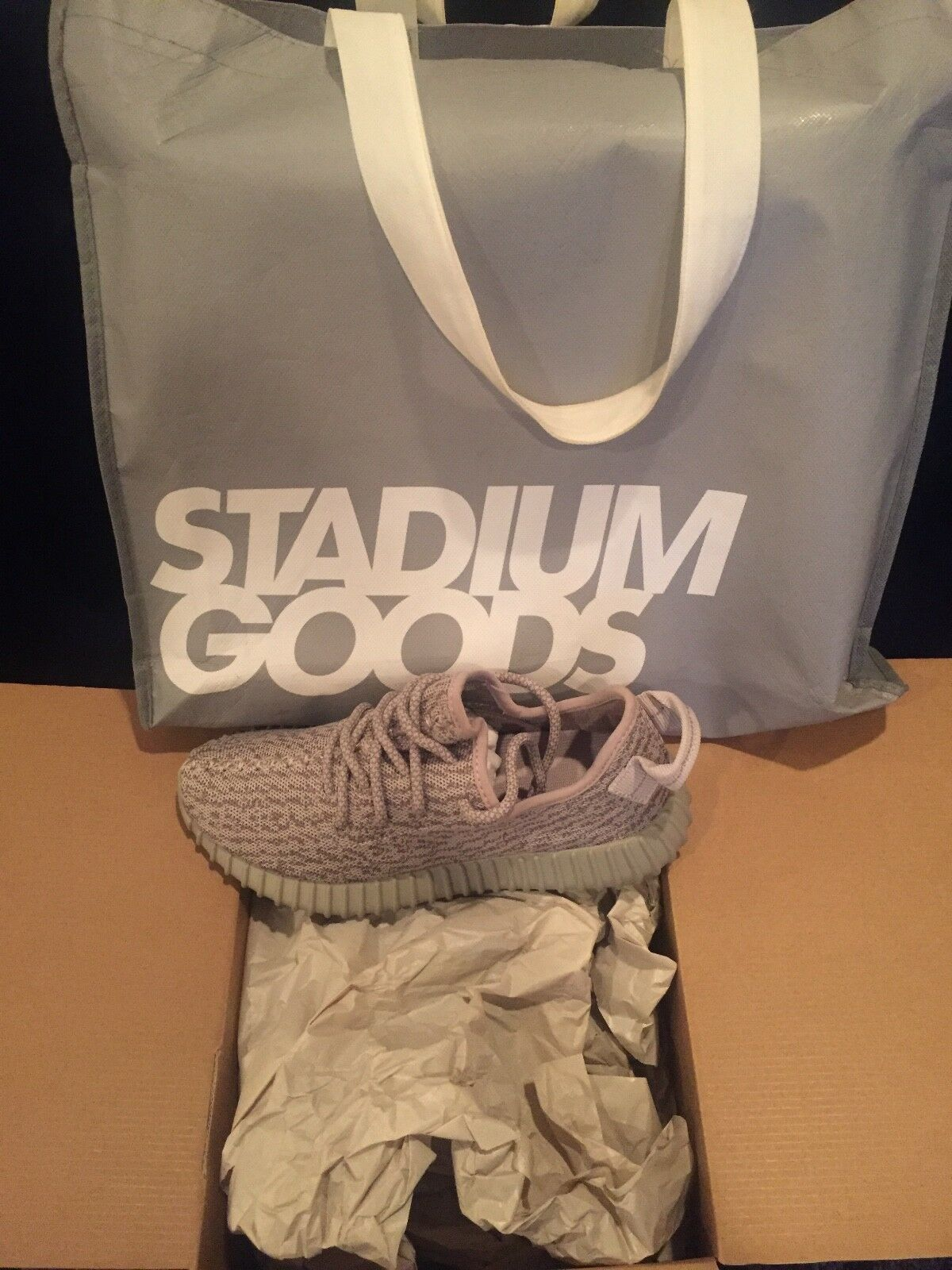 ADIDAS YEEZY BOOST 350 MOONROCK MENS SIZE 5 WOMENS SIZE 7 100% AUTHENTIC