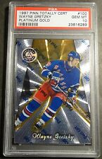 1997 WAYNE GRETZKY TOTALLY CERTIFIED PLATINUM GOLD #100 PSA 10  19/69 POP 10