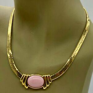 Trifari Flat Rope Necklace Gold Tone Signed