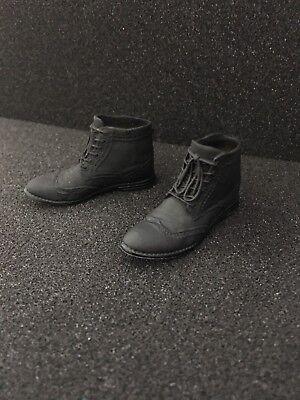 Personalizado 16 escala negro zapatos caben Hot Toys Joker Wolverine Cabeza Cuerpo Botas hizo | eBay